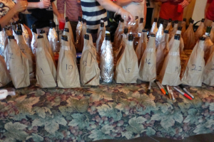 Best Blind Tasting  Brown bag it tasting at Clos Pepe